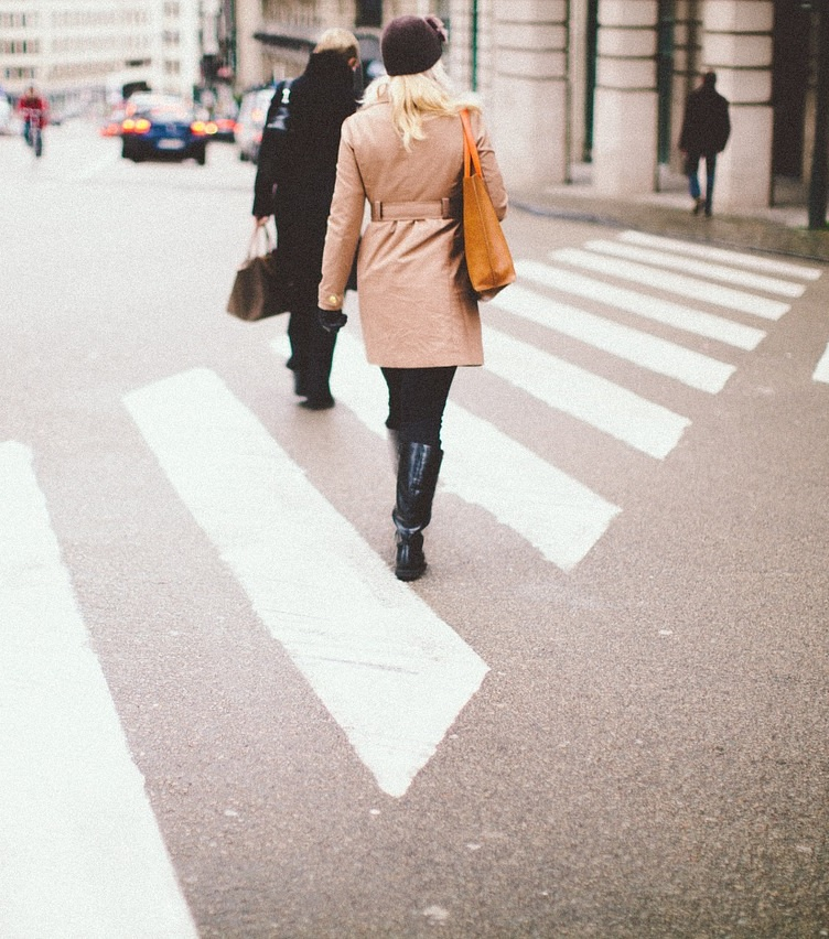 Woman in Crosswalk